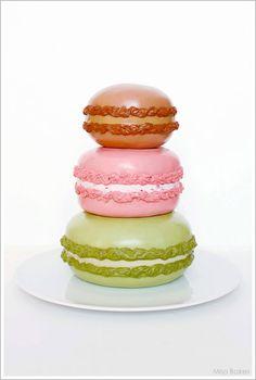 Macaron Cake Tutorial by Miso Bakes |  TheCakeBlog.com