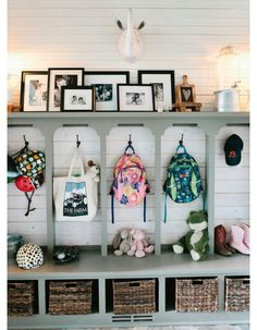 80 Modern Farmhouse Mudroom Entryway Ideas - Decorating Ideas - Home Decor Ideas and Tips Creating An Entryway, Mudroom Laundry Room, Mudroom Cubbies, Garage Mudrooms, Laundry Cabinets, Home Organization, Organizing Ideas, My Dream Home, Home Projects