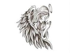 Praying Angel Tattoo Wallpaper