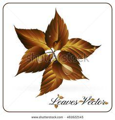 Autumn Leaves,Vector Illustration - stock vector
