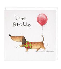 Dachshund Gift Wrap Greeting Cards
