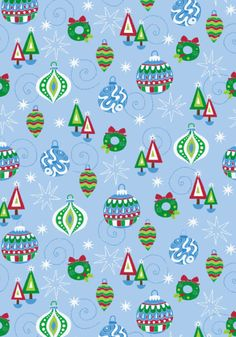 Christmas decorations scrapbook paper