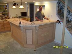 finished basement bar | building my basement bar - woodworking