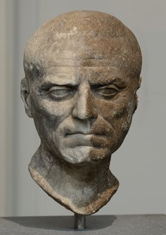 Portrait of an unknown man. Marble. 1st century BCE. Inv. No. L.2007.8.3. New York, the Metropolitan Museum of Art