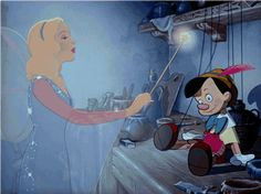 Screencap Gallery for Pinocchio Bluray, Disney Classics). Inventor Gepetto creates a wooden marionette called Pinocchio. His wish that Pinocchio be a real boy is unexpectedly granted by a fairy. Disney Magic, Disney Pixar, Walt Disney, Pinocchio Disney, Disney Animation, Disney Love, Disney Characters, Disney Nerd, Disney Stuff