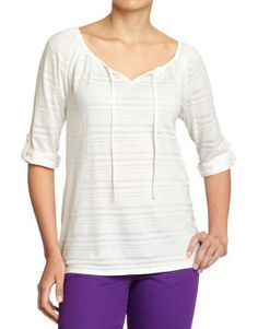 Old Navy Womens Striped Burnout 3/4...