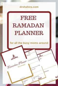 A Free Ramadan planner for all the moms + islamic printable, islamic freebie, planner