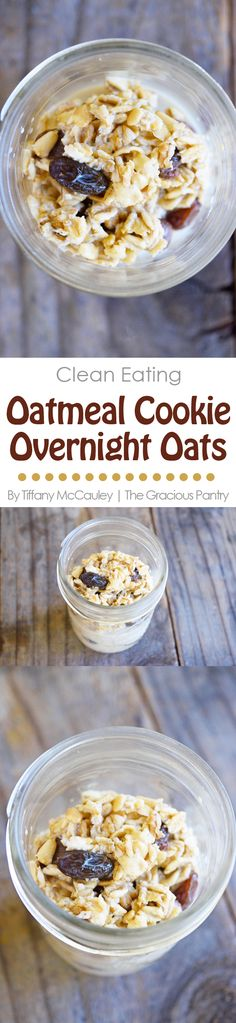 Clean Eating Recipes | Clean Eating Oatmeal | Overnight Oatmeal Recipes | Overnight Oats