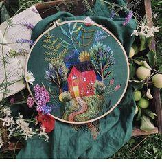 """Hand Embroidery Collection on Instagram: """"@kristja_ch ⠀ . . . #embroidery #handembroidery #вышивка #자수 #embroiderypattern #craft #diygift #diy #handmade #handstitched #Needlecraft…"""""""
