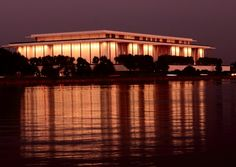 Kennedy Center at Night | In addition to spectacular performances year round, the Kennedy Center has an amazing terrace that serves up both cocktails and gorgeous views of the Potomac River at night. | #BHLDNgtown