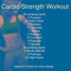 Great at-home cardio and strength workout with no equipment!