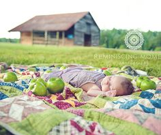 3 Month Baby Pic love!!  Dana we gotta Do this somehow with our barn at our dairy!!!
