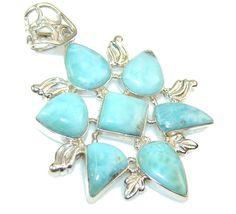 $73.42 Aura Of Beauty!! Blue Larimar Sterling Silver Pendant at www.SilverRushStyle.com #pendant #handmade #jewelry #silver #larimar