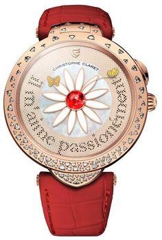 Christophe Claret MTR.MT115.080-110 Pieces D'Art Marguerite - швейцарские женские часы - наручные, золотые