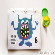 These monster play dough math mats will fit right in with your Halloween activities. Playdough Activities, Printable Activities For Kids, Classroom Activities, Toddler Activities, Halloween Math, Halloween Activities, Educational Games For Kids, School Items, New Things To Learn