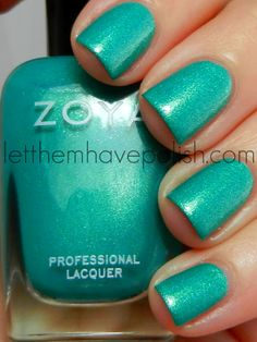 *Zoya - Zuza (Surf Collection Summer / LetThemHavePolish (own) Fancy Nails, Cute Nails, Pretty Nails, Zoya Nail Polish, Nail Polish Colors, Nail Polishes, Hair And Nails, My Nails, Nailart