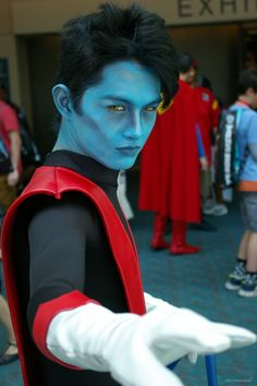 Convention Center Lobby: Photo by Partsch. Nightcrawler-Play by the Remarkable *MrDustinn*! Male Cosplay, Best Cosplay, Let's Pretend, Man Character, Comic Movies, Convention Centre, Marvel, Live Action, X Men