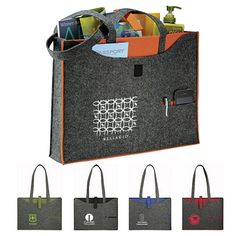 NEW Promotional Owl 100% Recycled Felt Business Tote Bag #3007-02 #totes #promoproducts #advertising | Customized Tote Bags | Logo Tote Bags