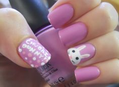 Easter Bunny Nails (from Holy Manicures)