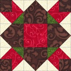 The second block in the Dream Castle Quilts 2012 BOM...Chocolate Covered Strawberries