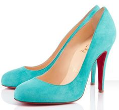 """Ron Ron"" is defined by her round toe, low cut vamp, and sexy arch. At 100mm she is the perfect classic to take your day look into the night. This version finished in turquoise suede will be your go to piece to bring a pop of color into any spring ensemble.  COLOR:Turquoise  MATERIAL:Suede  Heel Height: 3.9 inches approx. - 100 mm approx.  Arch: 3.9 inches approx. - 100 mm approx."