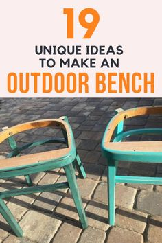 Now that it's warm it's time to go outside! Check out these DIY projects for cheap simple easy and repurposed ideas for benches you can make for your patio or back yards. Metal Outdoor Bench, Rustic Outdoor Decor, Rustic Patio, Outdoor Projects, Diy Projects, Old Fence Boards, Outdoor Glider, Pallet Patio Furniture, Old Garage