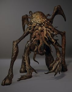 Cthulhu sculpture by Joel Harlow. I like this representation because it is less anthropomorphic than most.