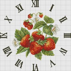 Gallery.ru / Фото #3 - 13 - KIM-3 / strawberries clock (1/3)