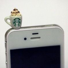 Kawaii STARBUCKS FRAPPUCCINO Iphone Earphone Plug/Dust Plug - Cellphone Headphone Handmade Decorations. $7.50, via Etsy. | Products & Gadgets
