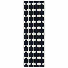 Anna schwarzer Plastikteppich - 70x80 cm - Brita Sweden