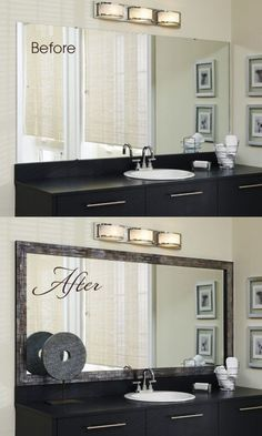 27 Bathroom Mirror Ideas for Small Bathroom Unique & Modern Designs Large Bathroom Mirrors, Bathroom Mirror Design, Large Bathrooms, Diy Mirror, Amazing Bathrooms, Mirror Vanity, Wall Mirror Ideas, Sunburst Mirror, Wall Mirrors