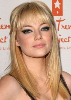 Top 100 Hairstyles for Round Faces | herinterest.com. . .I really really really want bangs!! My hairstylist says no. . .but I want them soooo bad!!!!