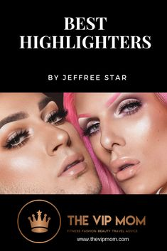 Best highlighters and tips by MUA Jeffree Star and Best Highlighter, Highlighter Makeup, Highlighters, Jeffree Star, Travel Advice, Best Makeup Products, Fitness Fashion, Vip, Fashion Beauty
