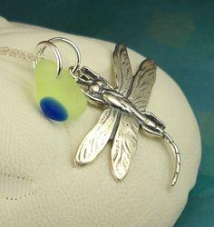Santa Cruz Lundberg Sea Glass Necklace RARE UV And by seaglassgems4you