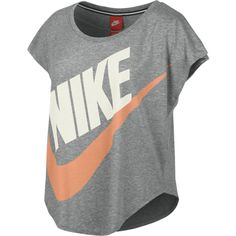 Nike Signal Women's T-Shirt ($20) ❤ liked on Polyvore featuring tops, shirts, t-shirts, 10. tops., sport and nike