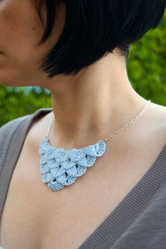 Delicately beautiful crochet necklace