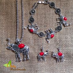 Elephant Tribal Necklace Set