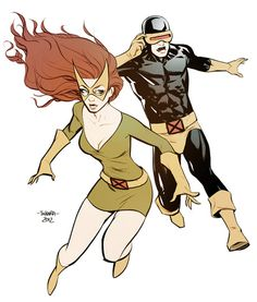 Marvel Girl and Cyclops