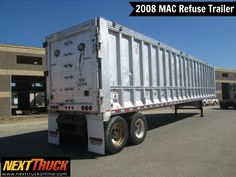 """Our featured #trailer is a 2008 MAC Refuse Trailer, 48' x 102"""", Reyco Suspension, 11R245 on Steel Hub, 2 Axles, Aluminum. Check out this week's recently added trailers at http://www.nexttruckonline.com/trailers-for-sale/All-Categories/All-Makes/results.html?days_old-max=7 #TrailersForSale #Trucking #NextTruck"""