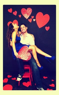 Our engagement pics, DIY photo booth by Carolina Ro couple day Valentines Photo Booth, Valentine Backdrop, Valentine Mini Session, Valentine Picture, Valentines Day Couple, Valentines Day Photos, Valentines Day Weddings, Valentines Day Party, Valentine Decorations