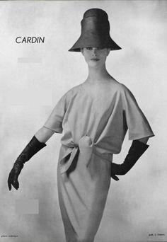 1960 Pierre Cardin  ensemble bleu pastel