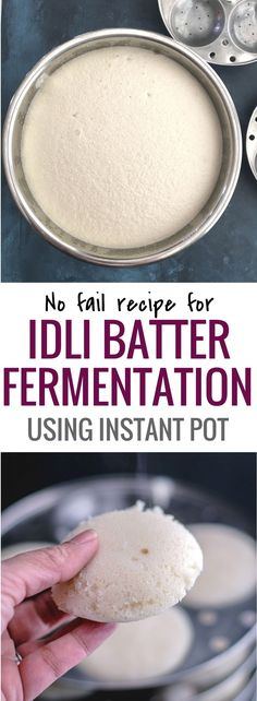 Idli batter recipe - Idli is a healthy Indian breakfast made by steaming fermented rice and urad dal batter. Idli Batter Recipes, Dosa Batter Recipe, Idli Recipe, Vegetarian Breakfast Recipes, Healthy Indian Recipes Vegetarian, Indian Breakfast, Thing 1, Recipe Steps, Instant Pot Pressure Cooker