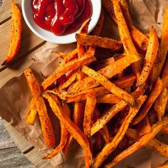 How to cook sweet potatoes: Make the best baked sweet potatoes, microwaved sweet potatoes, sweet potato fries, sweet potato chips and more. Plus, check out our favorite sweet potato recipes. Best Baked Sweet Potato, Spicy Sweet Potato Fries, Making Sweet Potato Fries, Sweet Potato Chips, Sweet Potato Recipes, Pellet Grill Recipes, Grilling Recipes, Carrot Fries, Cooking Sweet Potatoes