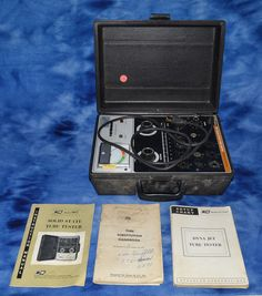 Vintage BK Precision 667 Solid State Vacuum Tube Tester With Manuals Untested #BKPrecision