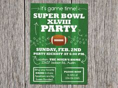SuperBowl Party Invitation Ticket Idea Invitation Ideas