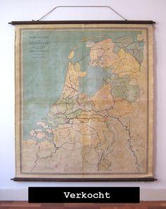 Oude landkaart NL uit 1921