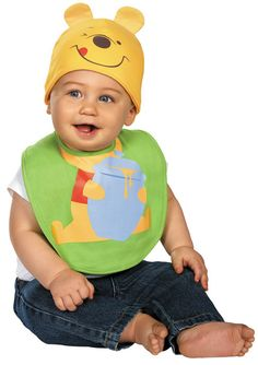 Pooh Bib With Hat