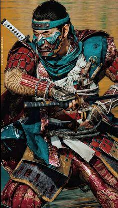 Samurai Tattoo, Samurai Art, Samurai Warrior, Geisha, Brother Pictures, Character Art, Character Design, Art Of Fighting, Japanese Warrior