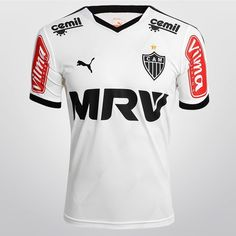 Camisa Puma Atlético Mineiro II 2015 s/nº - Branco+Preto