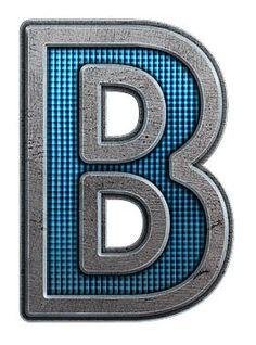 Typography - Metal Letter B